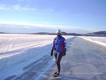 Op het ijs bij Östersund