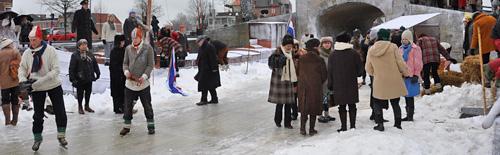 De hel van '63: even ijs in Sneek op 28 maart 2009