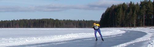 In Noorwegen, Zweden en Finland ligt ijs tot in maart
