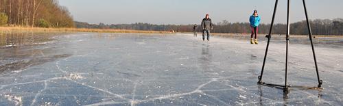 Er wordt heel wat afgefotografeerd op het ijs
