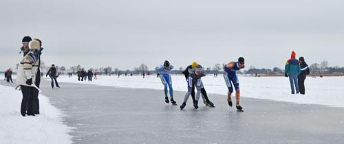 De strijd om de Nederlandse titel op de Overijsselse Belterwieden december 2010