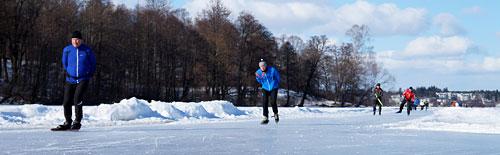 Schaatsen op het natuurijs van Norrviken