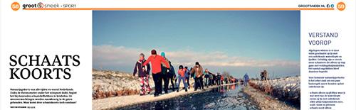 Artikel over schaatskoorts in GrootSneek