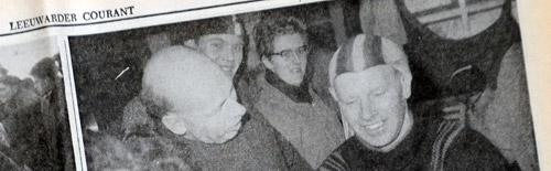 George Schweigmann bij aankomst Elfstedentocht in 1963