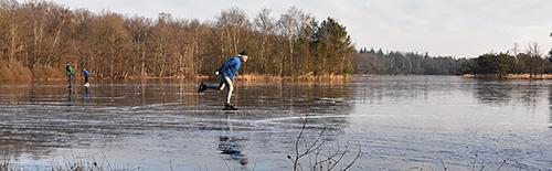 schaatsen op het dunste ijs