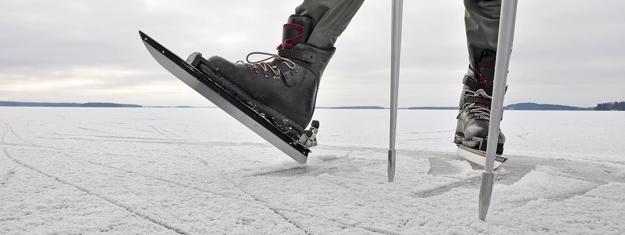 veilig schaatsen op natuurijs Scandinavische aanpak