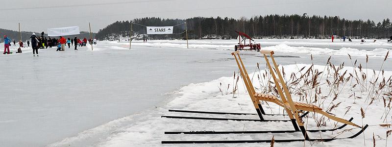 Setskog natuurijs noorwegen schaatsen