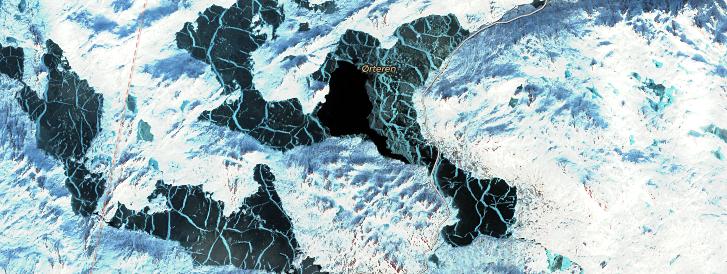 Satelietbeelden natuurijs