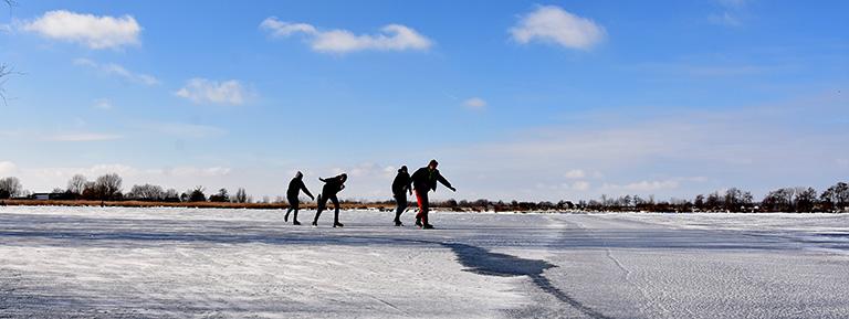 Denk aan de veiligheid op het ijs