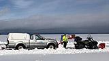 Geveegd ijs in Zweden