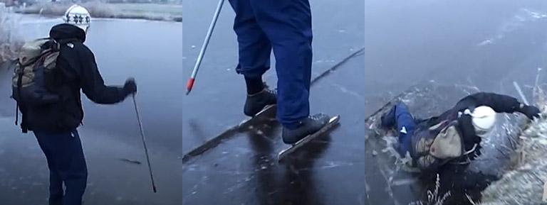 door het ijs